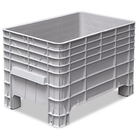 Volumenbox mit 4 Füßen + Griffmulde. Maß 1030 x 630 x 670 mm (LxBxH)