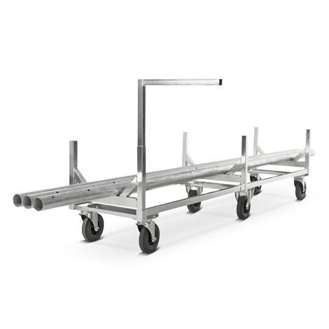 vozík s dlouhým materiál, pozinkovaný