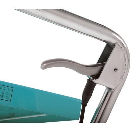 Vozík s nožnicovým zdvíhacím stolom Ameise®, pevné držadlo