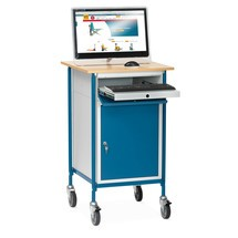 Vysoký psací pult fetra® Premium se skříňkou + zásuvkou na klávesnici
