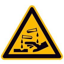 Waarschuwingsbord Waarschuwing voor bijtende stoffen D-W004