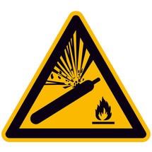 Waarschuwingsbord Waarschuwing voor gasflessen
