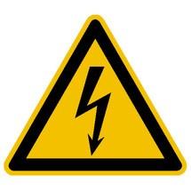 Waarschuwingsbord waarschuwing voor gevaarlijke elektrische spanning