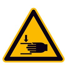Waarschuwingsbord – Waarschuwing voor handletsel
