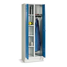 Wäsche-/Garderobenschrank mit Füßen+Drehverschl.,Breit 810mm