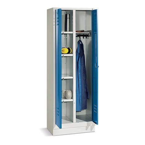 Wäsche-/Garderobenschrank mit Sockel+Drehverschl,Breit 610mm