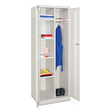 Wäscheschrank/Garderobenschrank PAVOY mit 6 Fächern und Kleiderstange