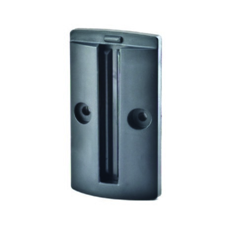 Wall clip for belt barrier and control systems