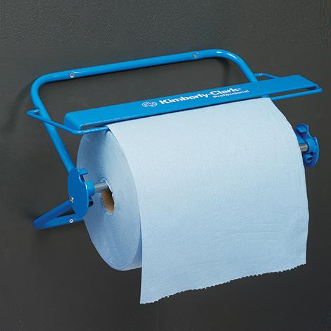 Wandhalter/Tischspender für Kimberly Clark ® Großrollen, blau