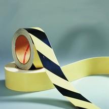 Warning marking tape, photoluminescent, lux white