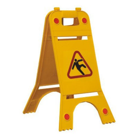 Warning stand with reflectors