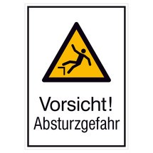 Warnschild-Kombination –