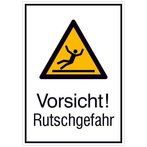 Warnschild-Kombination –