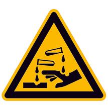 Warnschild Warnung vor ätzenden Stoffen D-W004