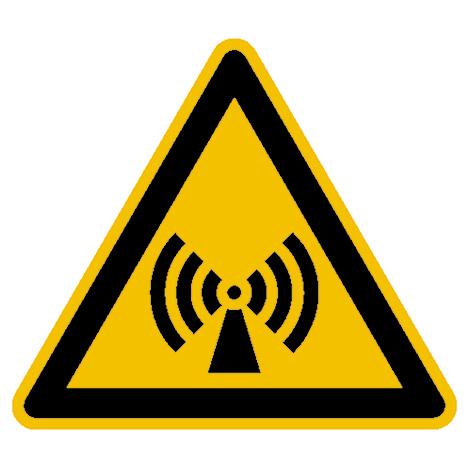 Warnschild Warnung vor elektromagnetischem Feld