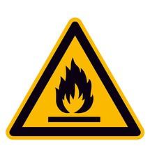 Warnschild – Warnung vor feuergefährlichen Stoffen