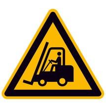 Warnschild – Warnung vor Flurförderzeugen
