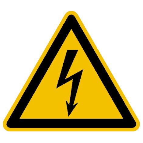 Warnschild Warnung vor gefährlicher elektrischer Spannung