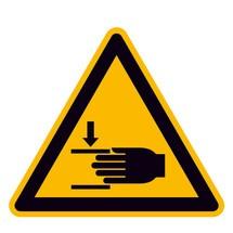 Warnschild – Warnung vor Handverletzungen