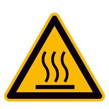 Warnschild – Warnung vor heißer Oberfläche
