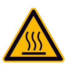 Warnschild Warnung vor heißer Oberfläche