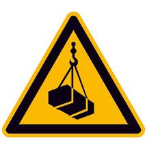 Warnschild Warnung vor schwebender Last