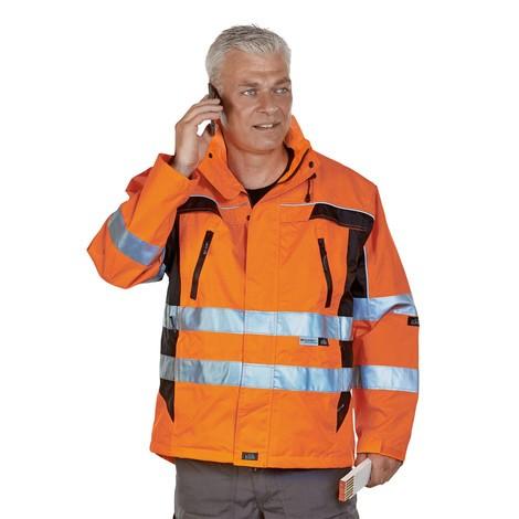 Warnschutz-Jacke MÜNCHEN, leuchtorange/schwarz