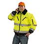 Warnschutz-Pilotenjacke DRESDEN, leuchtorange/marine