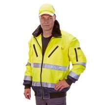 Warnschutz-Pilotenjacke DRESDEN, neongelb/marine