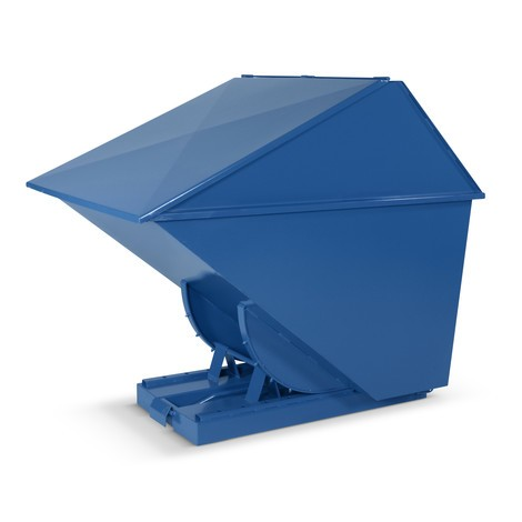 Waste container with tilt function