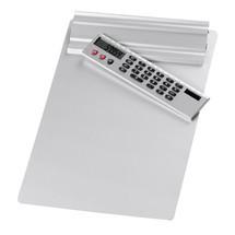 WEDO® Klemmbrett aus Aluminium, mit abnehmbarem Taschenrechner
