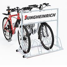 Werbe-Digitaldruck für Fahrradständer, 4 Plätze