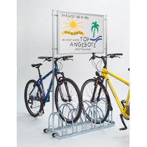 Werbe-Fahrradständer zweiseitig, 3 - 6 Stellplätze