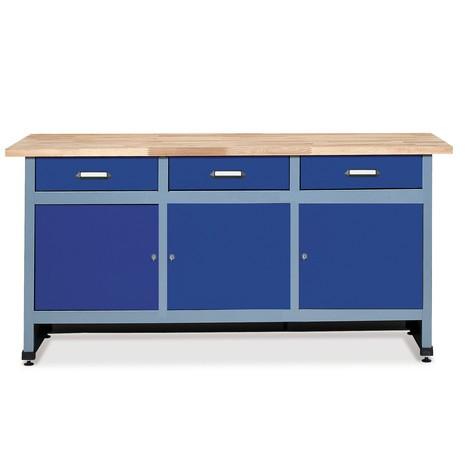 werkbank mit schubladen t ren jungheinrich profishop. Black Bedroom Furniture Sets. Home Design Ideas