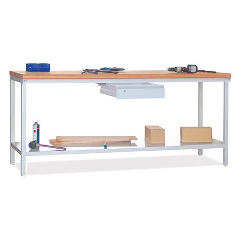 Werkbank PAVOY mit 2 Schubladen + 1 Ablageboden, Maß 1500 x 700 x 900 mm (HxBxT)