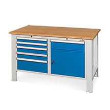 Werkbank Steinbock®. Mit 4 Schubladen  und 1 Flügeltür