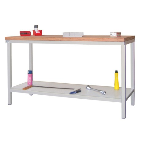 Werkbanktafel PAVOY met aflegvlak, hxbxd 900 x 1.500 x 700 mm