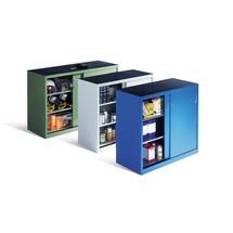 Werkplaatsbijzetkast C+P met 2 legborden, hxbxd 1.000 x 1.600 x 400 mm, scheidingswand