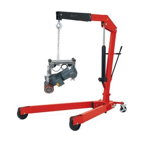 Werkplaatskraan met gespreid frame en snelhef, inklapbaar