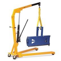 Werkplaatskraan met V-vormige wielarmen, inklapbaar
