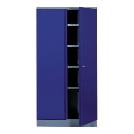 Werkstattschrank mit 4 Einlegeböden + Flügeltüren