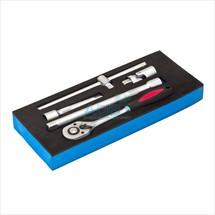 Werkstattwagen-Einlage inkl. 5-tlg. Steckschlüssel-Bedienung
