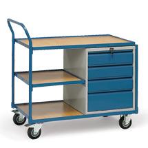 Werkstattwagen fetra®. 3 Etagen + 4 Schubladen. Tragkraft 250kg