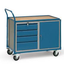 Werkstattwagen fetra®. 4 Schubladen + 1 Schrank. Tragkraft 250kg