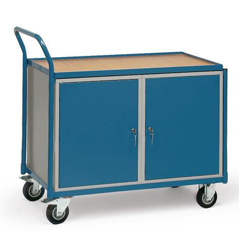 Werkstattwagen fetra® mit 2 Schränken. Tragkraft 250 kg