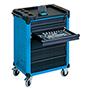 Werkstattwagen HAZET ® Assistent® mit bis zu 7 Schubladen. Blau