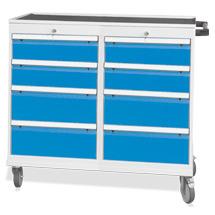Werkstattwagen mit 2 x 4 Schubladen. Tragkraft 500 kg