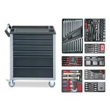 Werkstattwagen mit 205 Werkzeugen + 6 Schubladen