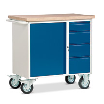 Werkstattwagen mit 4 Schubladen und Schrank. Tragkraft 400 kg