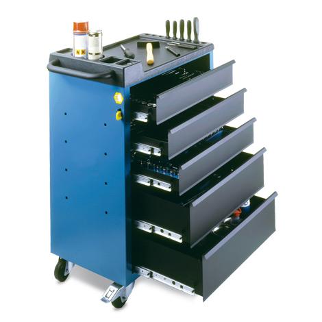 Werkstattwagen mit 5 oder 6 Schubladen. Tragkraft pro Schublade 20kg